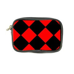 Red Black Square Pattern Coin Purse