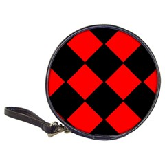 Red Black square Pattern Classic 20-CD Wallets