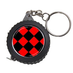 Red Black square Pattern Measuring Tapes