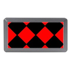 Red Black Square Pattern Memory Card Reader (mini)