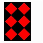 Red Black square Pattern Small Garden Flag (Two Sides) Front