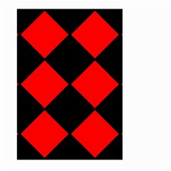 Red Black square Pattern Large Garden Flag (Two Sides)