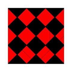 Red Black Square Pattern Acrylic Tangram Puzzle (6  X 6 )