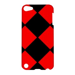 Red Black square Pattern Apple iPod Touch 5 Hardshell Case