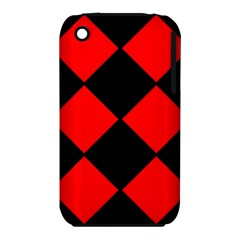 Red Black square Pattern iPhone 3S/3GS