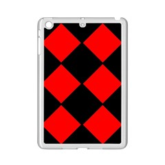 Red Black Square Pattern Ipad Mini 2 Enamel Coated Cases