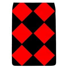 Red Black square Pattern Flap Covers (S)