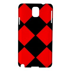 Red Black square Pattern Samsung Galaxy Note 3 N9005 Hardshell Case