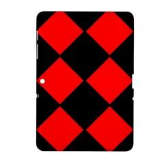 Red Black Square Pattern Samsung Galaxy Tab 2 (10 1 ) P5100 Hardshell Case