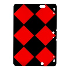 Red Black Square Pattern Kindle Fire Hdx 8 9  Hardshell Case
