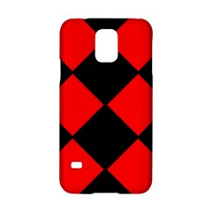 Red Black square Pattern Samsung Galaxy S5 Hardshell Case