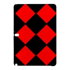 Red Black Square Pattern Samsung Galaxy Tab Pro 10 1 Hardshell Case