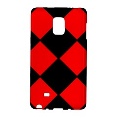 Red Black square Pattern Galaxy Note Edge