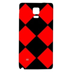 Red Black Square Pattern Galaxy Note 4 Back Case