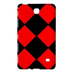 Red Black Square Pattern Samsung Galaxy Tab 4 (8 ) Hardshell Case