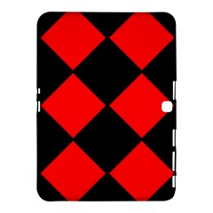Red Black square Pattern Samsung Galaxy Tab 4 (10.1 ) Hardshell Case