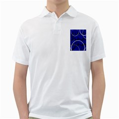 Blue Abstract Pattern Rings Abstract Golf Shirts