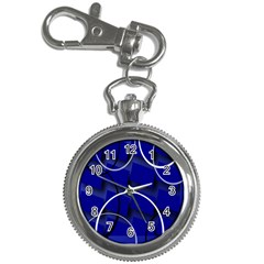 Blue Abstract Pattern Rings Abstract Key Chain Watches