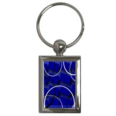 Blue Abstract Pattern Rings Abstract Key Chains (Rectangle)