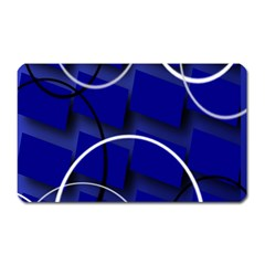 Blue Abstract Pattern Rings Abstract Magnet (Rectangular)
