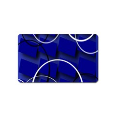Blue Abstract Pattern Rings Abstract Magnet (Name Card)