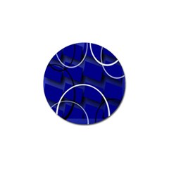 Blue Abstract Pattern Rings Abstract Golf Ball Marker