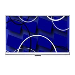 Blue Abstract Pattern Rings Abstract Business Card Holders