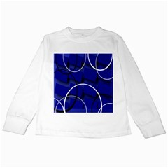 Blue Abstract Pattern Rings Abstract Kids Long Sleeve T Shirts