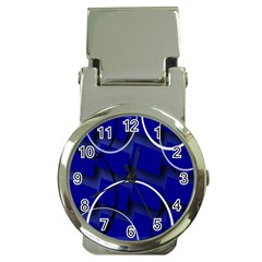 Blue Abstract Pattern Rings Abstract Money Clip Watches