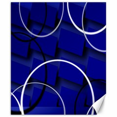 Blue Abstract Pattern Rings Abstract Canvas 20  x 24