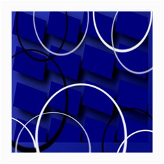 Blue Abstract Pattern Rings Abstract Medium Glasses Cloth