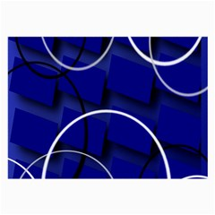 Blue Abstract Pattern Rings Abstract Large Glasses Cloth