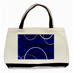Blue Abstract Pattern Rings Abstract Basic Tote Bag (two Sides)