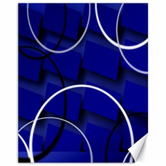 Blue Abstract Pattern Rings Abstract Canvas 11  x 14