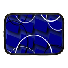 Blue Abstract Pattern Rings Abstract Netbook Case (medium)