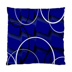 Blue Abstract Pattern Rings Abstract Standard Cushion Case (two Sides)