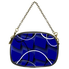 Blue Abstract Pattern Rings Abstract Chain Purses (Two Sides)
