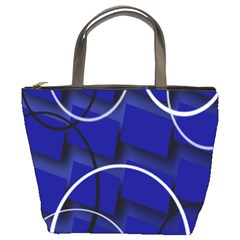 Blue Abstract Pattern Rings Abstract Bucket Bags