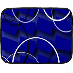 Blue Abstract Pattern Rings Abstract Fleece Blanket (Mini)