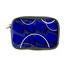 Blue Abstract Pattern Rings Abstract Coin Purse