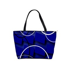 Blue Abstract Pattern Rings Abstract Shoulder Handbags