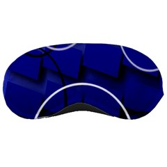 Blue Abstract Pattern Rings Abstract Sleeping Masks