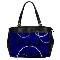 Blue Abstract Pattern Rings Abstract Office Handbags