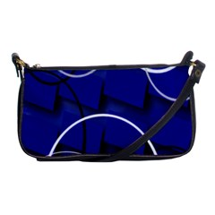 Blue Abstract Pattern Rings Abstract Shoulder Clutch Bags