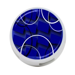 Blue Abstract Pattern Rings Abstract 4-Port USB Hub (One Side)