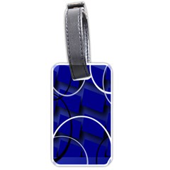 Blue Abstract Pattern Rings Abstract Luggage Tags (One Side)
