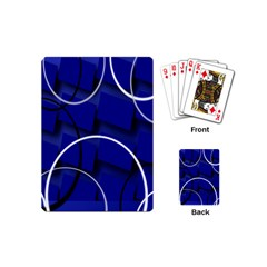 Blue Abstract Pattern Rings Abstract Playing Cards (Mini)