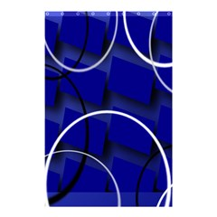 Blue Abstract Pattern Rings Abstract Shower Curtain 48  x 72  (Small)
