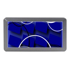 Blue Abstract Pattern Rings Abstract Memory Card Reader (Mini)