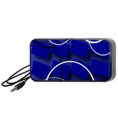 Blue Abstract Pattern Rings Abstract Portable Speaker (black)